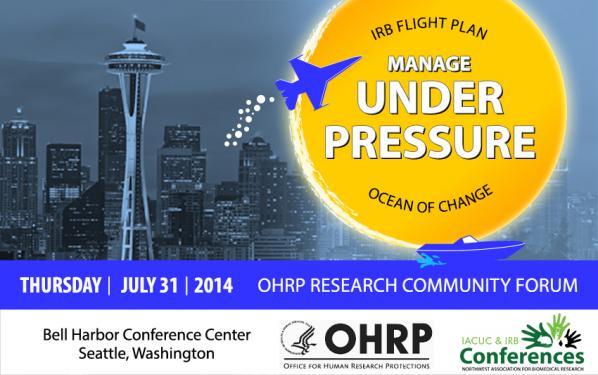 OHRP Community Forum - Manage Under Pressure